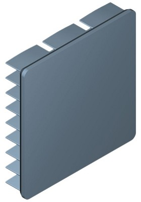 35 mm Square x 7 mm High Alpha Heat Sink - 13.8 °C/W