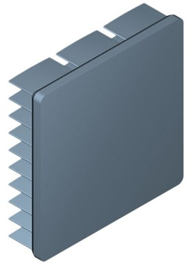 40 mm Square x 10 mm High Alpha Heat Sink - 10.7 °C/W
