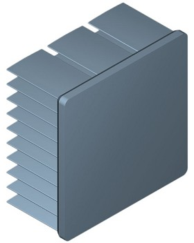 40 mm Square x 20 mm High Alpha Heat Sink - 7.9 °C/W