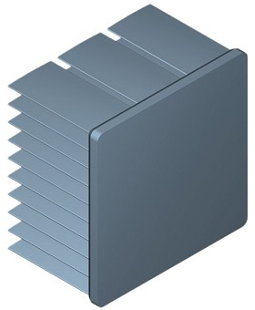 40 mm Square x 25 mm High Alpha Heat Sink - 7.1 °C/W