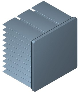 40 mm Square x 30 mm High Alpha Heat Sink - 6.4 °C/W