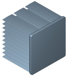 40 mm Square x 35 mm High Alpha Heat Sink - 6.0 °C/W