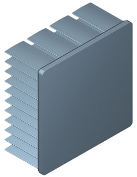 45 mm Square x 20 mm High Alpha Heat Sink - 6.7 °C/W