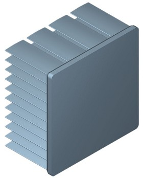 45 mm Square x 25 mm High Alpha Heat Sink - 6.0 °C/W