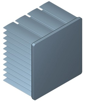 45 mm Square x 30 mm High Alpha Heat Sink - 5.5 °C/W