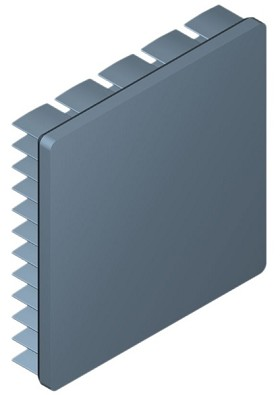 50 mm Square x 10 mm High Alpha Heat Sink - 8.2 °C/W