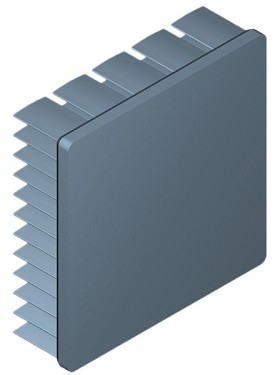 50 mm Square x 15 mm High Alpha Heat Sink - 6.9 °C/W