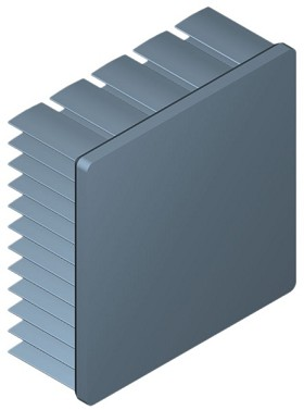 50 mm Square x 20 mm High Alpha Heat Sink - 5.9 °C/W