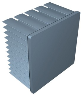 50 mm Square x 30 mm High Alpha Heat Sink - 4.8 °C/W