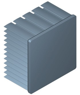 50 mm Square x 35 mm High Alpha Heat Sink - 4.5 °C/W