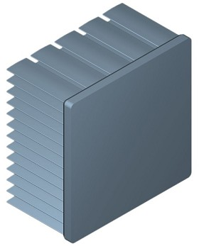 54 mm Square x 30 mm High Alpha Heat Sink - 4.5 °C/W