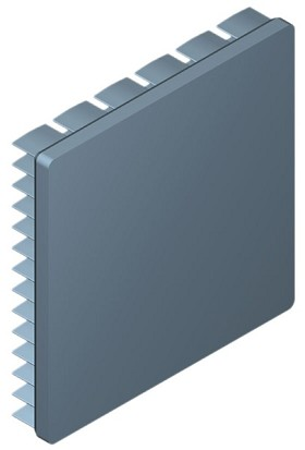 60 mm Square x 10 mm High Alpha Heat Sink - 6.5 °C/W