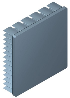 60 mm Square x 15 mm High Alpha Heat Sink - 5.5 °C/W