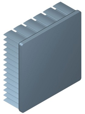 60 mm Square x 20 mm High Alpha Heat Sink - 4.8 °C/W