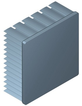 60 mm Square x 25 mm High Alpha Heat Sink - 4.3 °C/W
