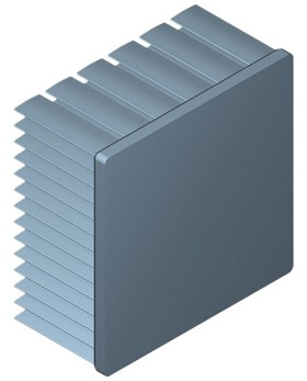 60 mm Square x 30 mm High Alpha Heat Sink - 4.0 °C/W
