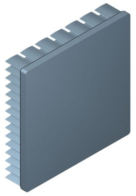 70 mm Square x 15 mm High Alpha Heat Sink - 4.1 °C/W