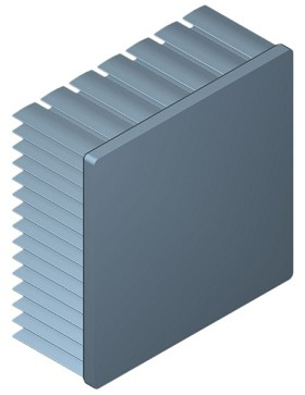 70 mm Square x 30 mm High Alpha Heat Sink - 2.95  °C/W