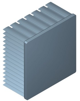 70 mm Square x 35 mm High Alpha Heat Sink - 2.75 °C/W
