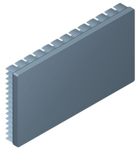 130 mm x 70 mm Rectangular 15 mm High Alpha Heat Sink - 2.7 °C/W