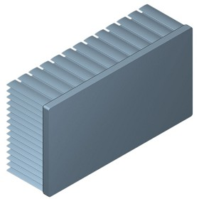 130 mm x 70 mm Rectangular 40 mm High Alpha Heat Sink - 1.8 °C/W