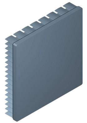 80 mm Square x 15 mm High Alpha Heat Sink - 3.5 °C/W