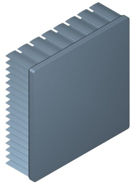 80 mm Square x 25 mm High Alpha Heat Sink - 2.75 °C/W