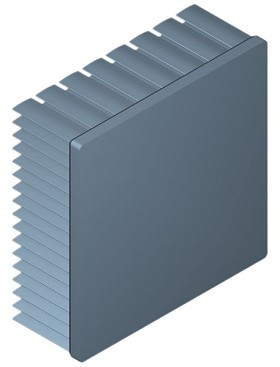 80 mm Square x 30 mm High Alpha Heat Sink - 2.55 °C/W