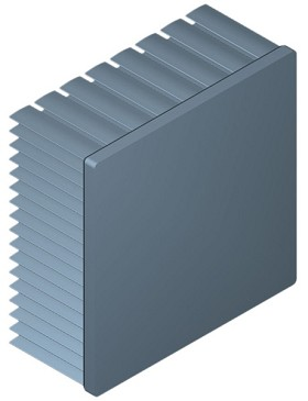 80 mm Square x 35 mm High Alpha Heat Sink - 2.35 °C/W