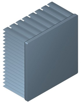 80 mm Square x 40 mm High Alpha Heat Sink - 2.2 °C/W