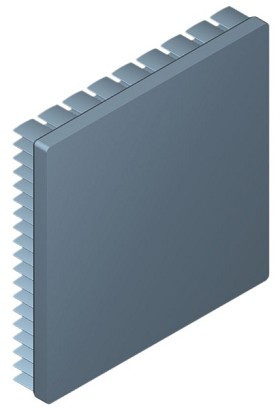 90 mm Square x 15 mm High Alpha Heat Sink - 3.0 °C/W