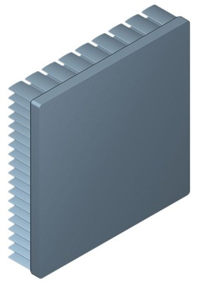 90 mm Square x 20 mm High Alpha Heat Sink - 2.65 °C/W