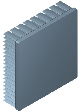 90 mm Square x 25 mm High Alpha Heat Sink - 2.4 °C/W