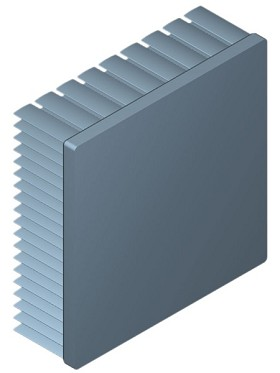 90 mm Square x 30 mm High Alpha Heat Sink - 2.2 °C/W