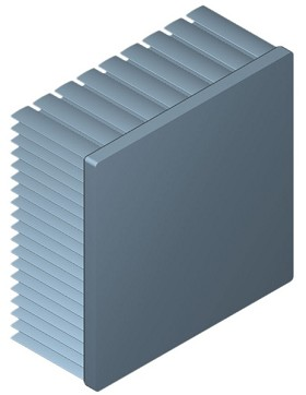 90 mm Square x 40 mm High Alpha Heat Sink - 1.95 °C/W