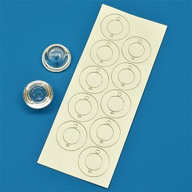 Mounting Tape for Carclo 20 mm Bubble Optics (10 Piece Sheet)