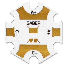 Saber 20 mm Star Blank Aluminum MCPCB Base For Rebel LEDs