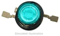 Luxeon Emitter LED - Cyan Batwing, 45 lm @ 350mA