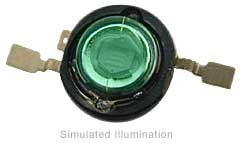 Luxeon Emitter LED - Green Batwing, 53 lm @ 350mA