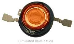 Luxeon III Emitter LED - Red-Orng Side Emitting; 170 lm @ 1400mA