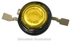 Luxeon III Emitter LED - Amber Side Emitting; 100 lm @ 1400mA