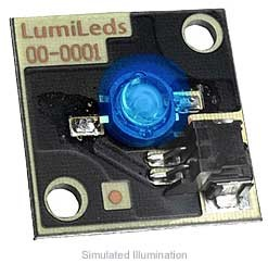Luxeon Star/C LED - Blue Batwing, 16 lm @ 350mA