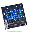 LXHL-MBCA - Luxeon 12 LED Flood LED - Blue Batwing; 120 lm @ 700mA