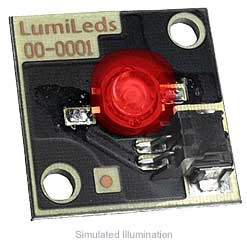 Luxeon Star/C LED - Red Batwing, 27 lm @ 350mA