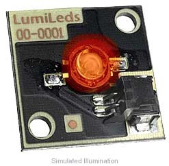 Luxeon Star/C LED - Red-Orange Lambertian; 55 lm @ 350mA