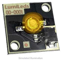 Luxeon Star/C LED - Amber Batwing, 25 lm @ 350mA