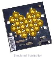 Luxeon 18 LED Flood LED - Amber Batwing, 450 lm @ 1050mA