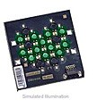 LXHL-MMCA - Luxeon 12 LED Flood LED - Green Batwing; 360 lm @ 700mA
