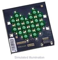 Luxeon 18 LED Flood LED - Green Batwing; 540 lm @ 1050mA