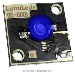 Luxeon Star/C LED - Royal Blue Batwing, 220 mW @ 350mA